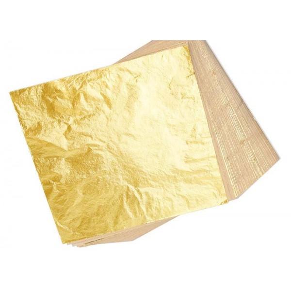 Zlati lističi (zlato) - 21k v blokcu 25 kosov brez podlage