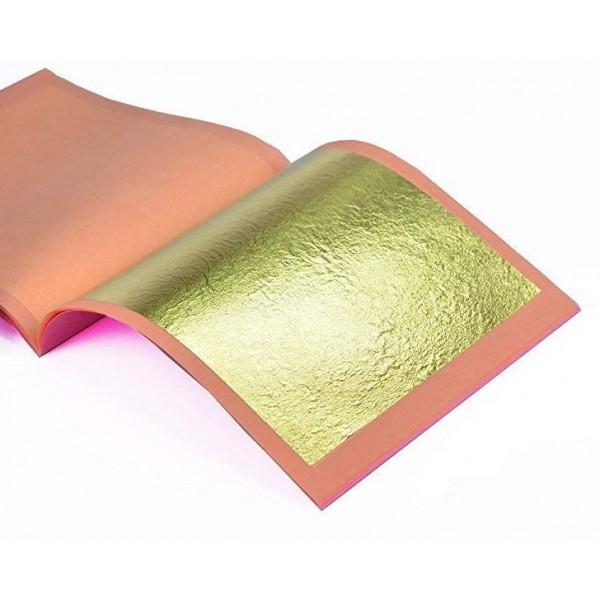 Zlati lističi (zlato) - 21k v blokcu 25 kosov z podlago